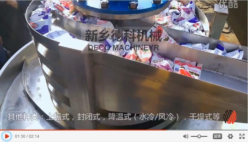 奶包分包提升输送,自动化线试机实拍